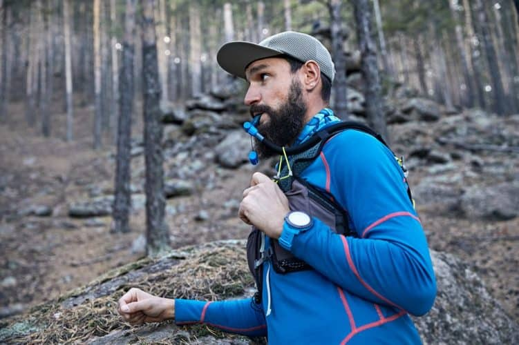 trail running with a hydration pack